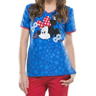 Cherokee Tooniforms Minnie Americana Tops