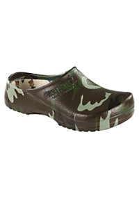 Birkenstock Professional Super Birki Green Camo Nursing Clogs