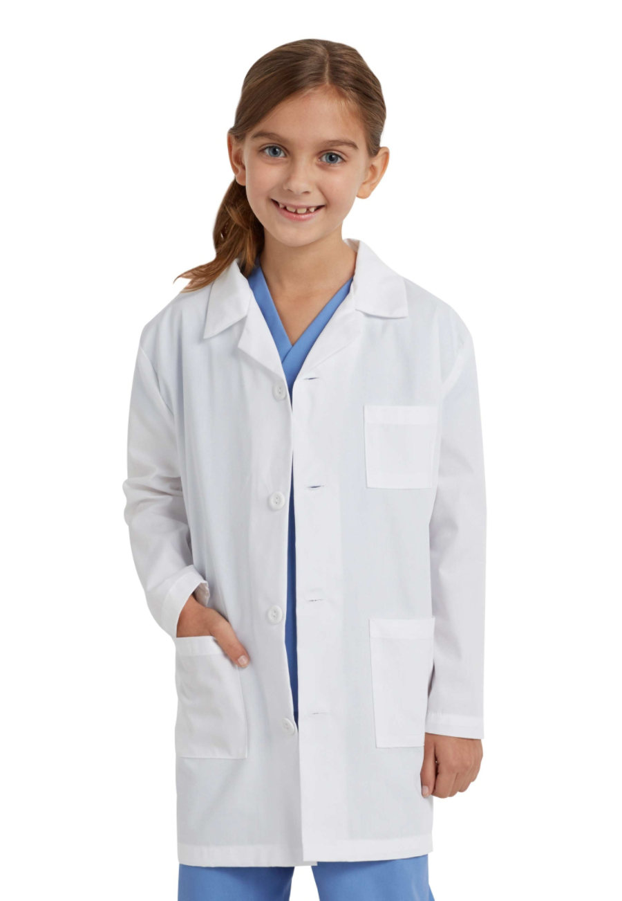 Landau Kid's Medical Lab Coats - White - 8/10 plus size,  plus size fashion plus size appare