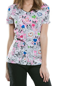 Dickies EDS Hoo's Garden Is This Print Scrub Tops