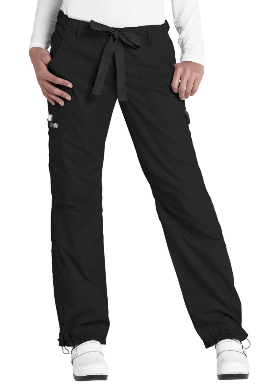 Koi Lindsey Twill Cargo Scrub Pants - Black - 2X plus size,  plus size fashion plus size appare