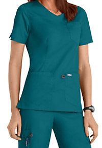 Scrubzone Red Women's Surplice Scrub Tops