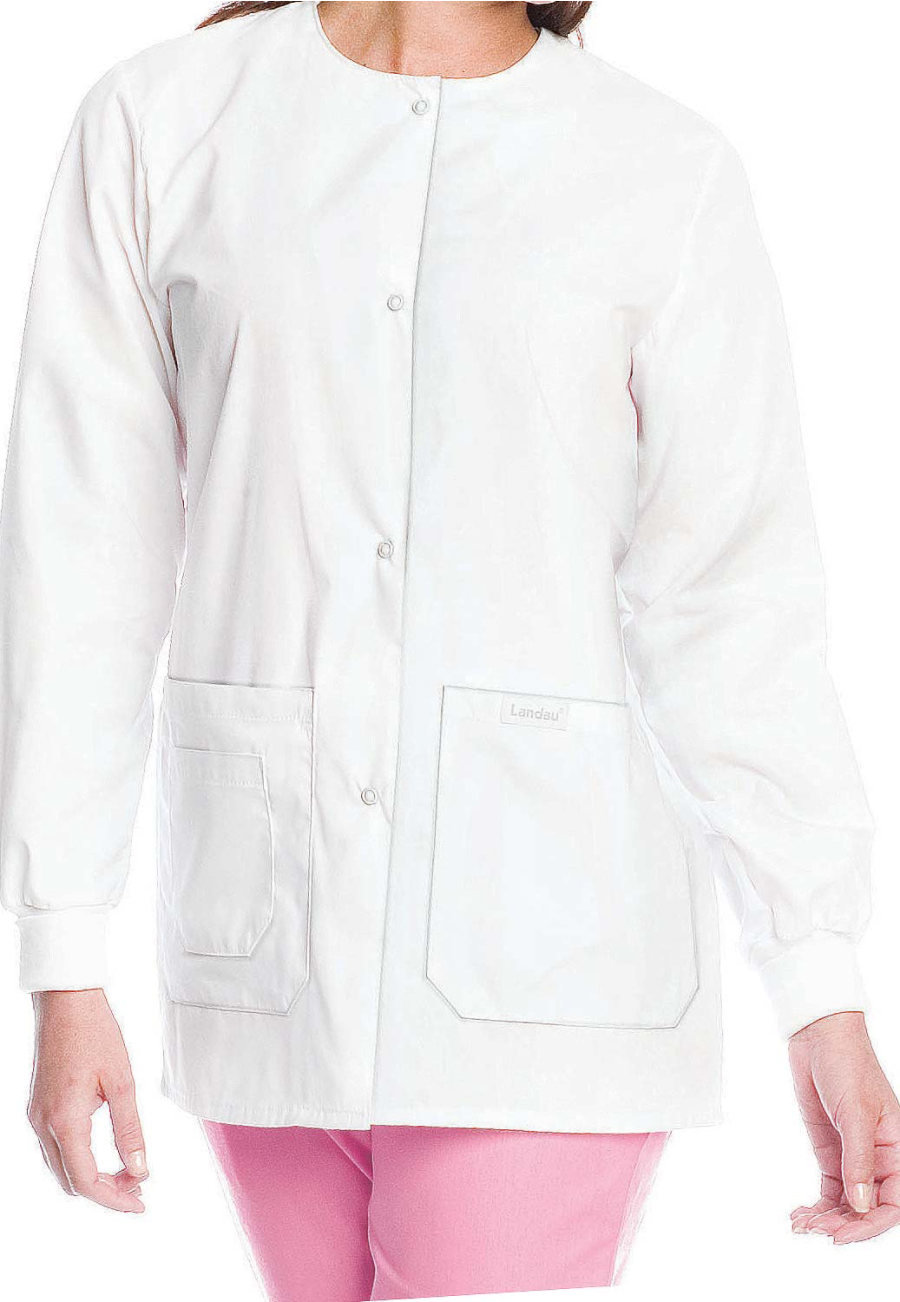Landau Essentials Tie Back Warmup Scrub Jackets