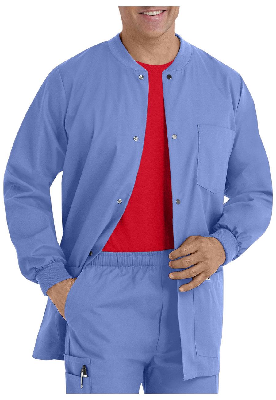 Landau Essentials Men's Warm-up Scrub Jackets - Ceil - 3X plus size,  plus size fashion plus size appare