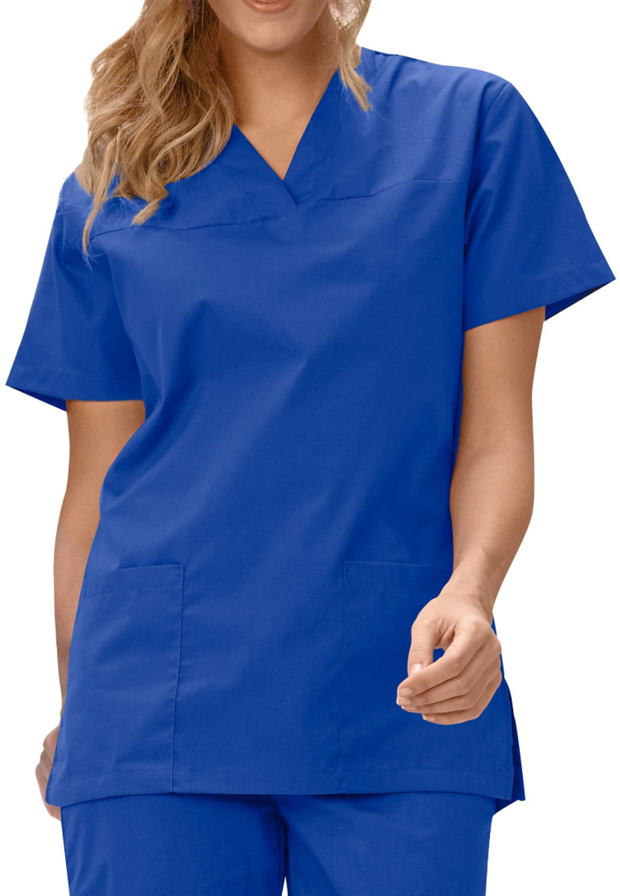 Fashion Seal Ladies V-neck Scrub Tops - Blueberry - 4X plus size,  plus size fashion plus size appare
