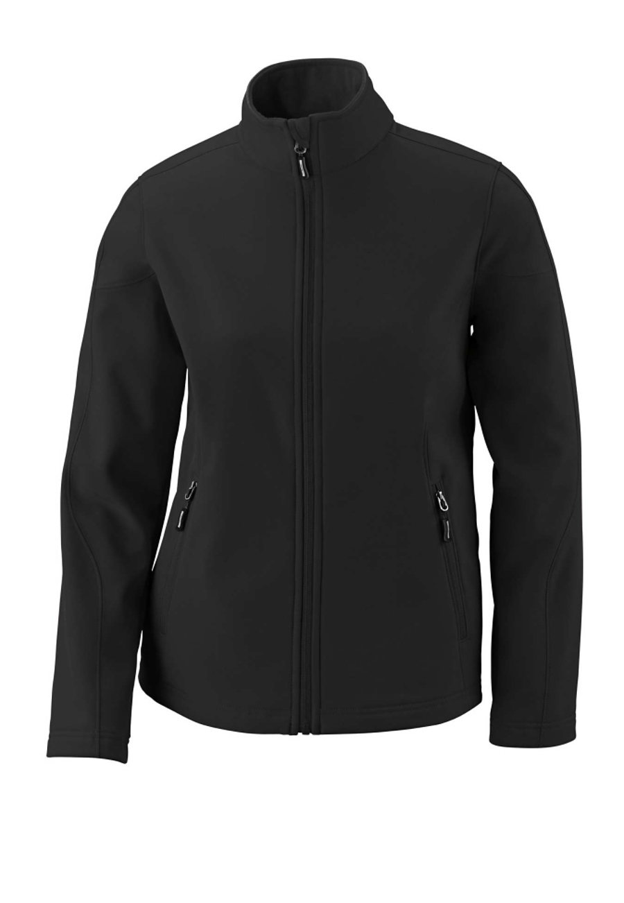Image of Ash City Core 365 Ladies Cruise 2 Layer Fleece Jackets - Black - 2X