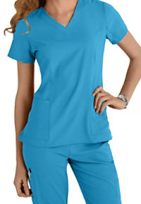 White Cross Oasis Stretch V-neck Scrub Tops