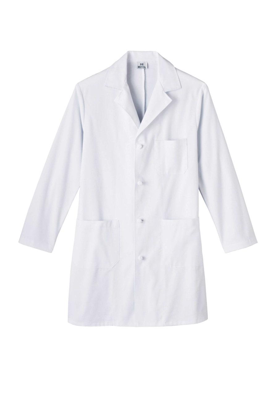 META Men's 38 Inch Knot Button Professional Lab Coats