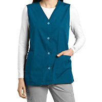 White Cross Button Down Vest