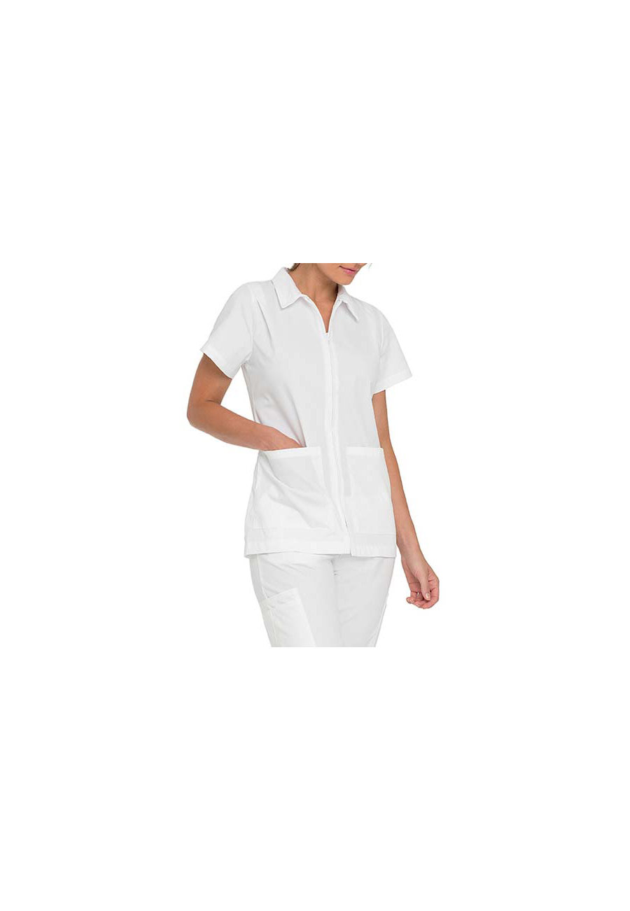 Landau Student Scrub Tops With Pleated Shoulders