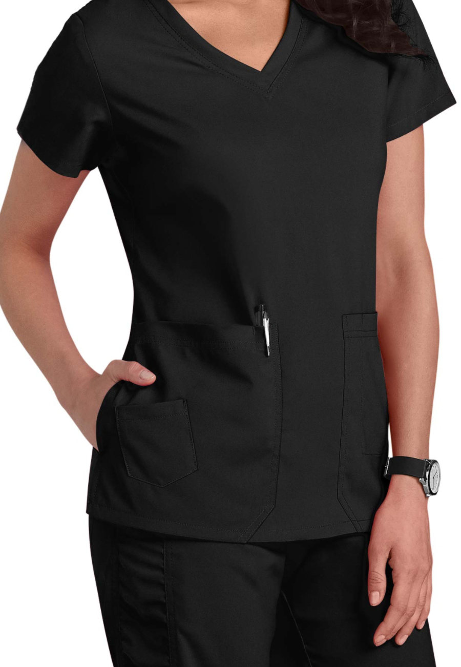 Image of Barco KD110 Camy Scrub Tops - Black - 2X