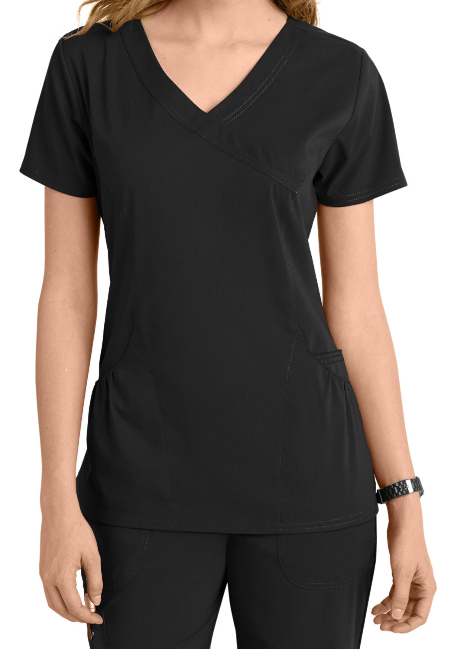 Image of Barco KD110 Kellie Scrub Tops - Black - 2X