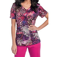 Landau Smart Stretch Phantom V-neck Print Tops