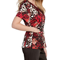 Landau Smart Stretch Primal V-neck Print Tops