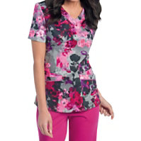 Landau Smart Stretch Tuscany V-neck Print Tops