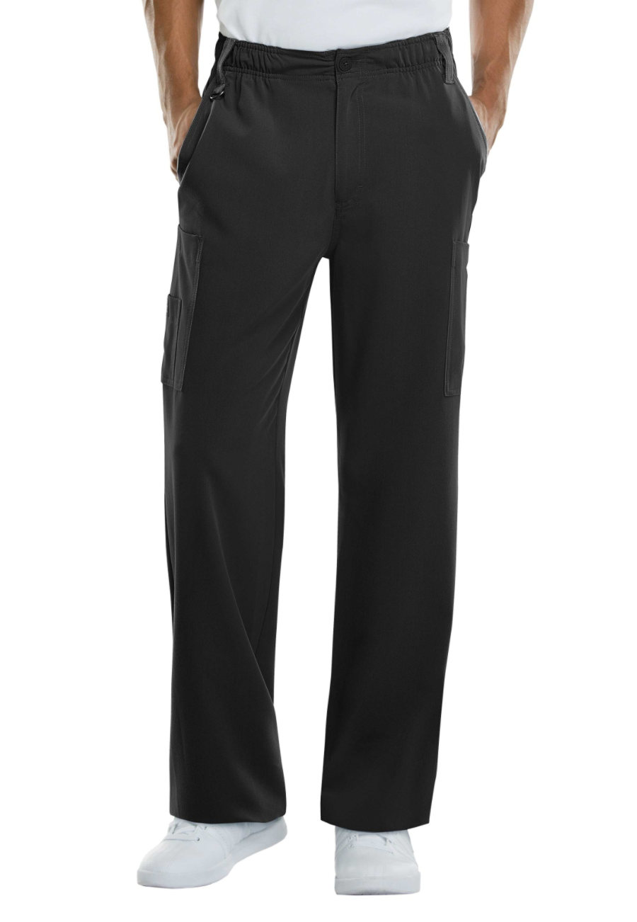 Image of Dickies Xtreme Stretch Men's Zip Fly Pull On Pants - Black - 3X