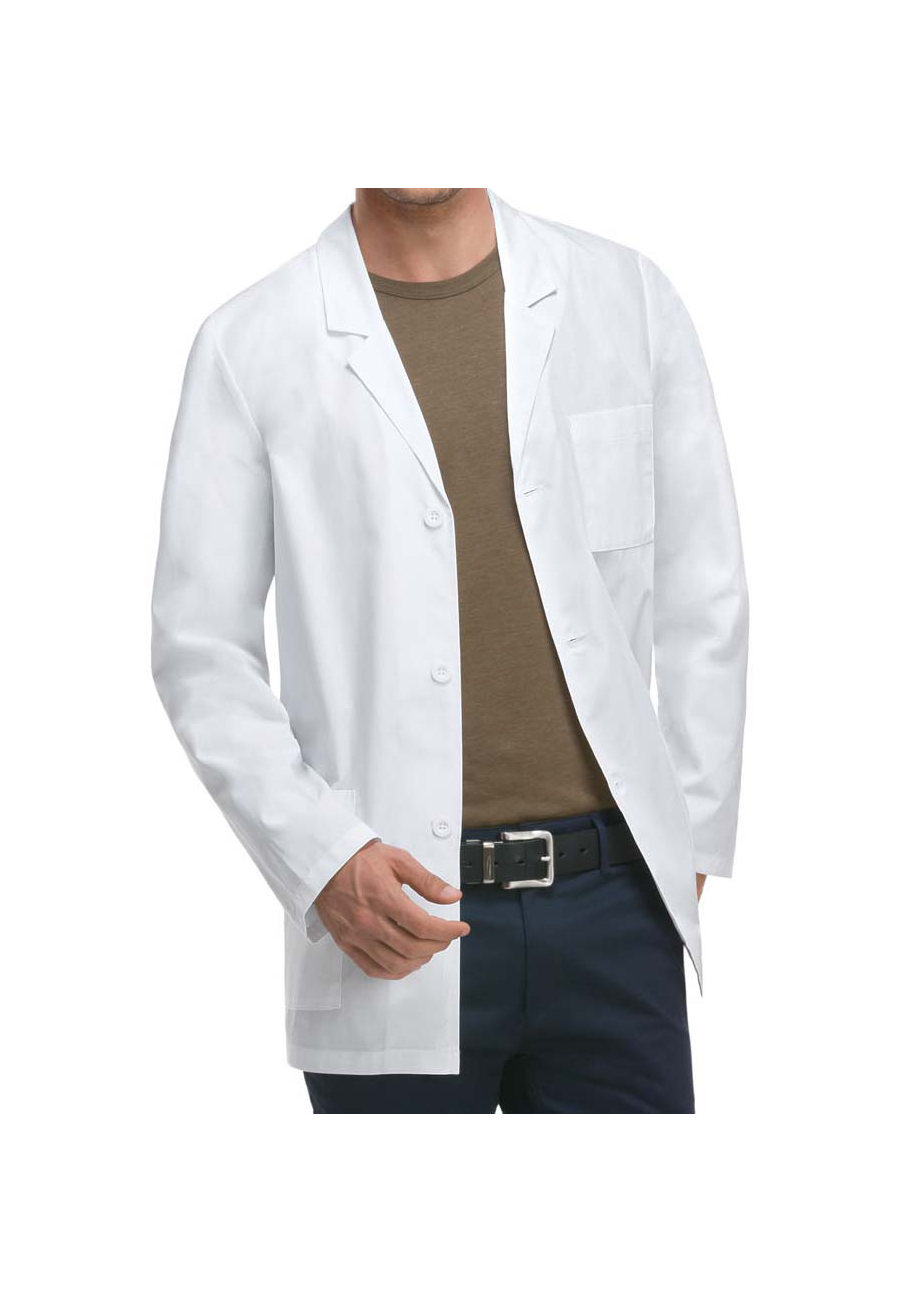 Dickies Men's 31 Inch Poplin Consultation Lab Coats with Certainty Plus