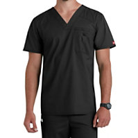 Dickies EDS Signature Stretch Men's V-neck Tops With Certainty