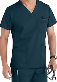 Dickies EDS Signature Men's V-neck Scrub Tops