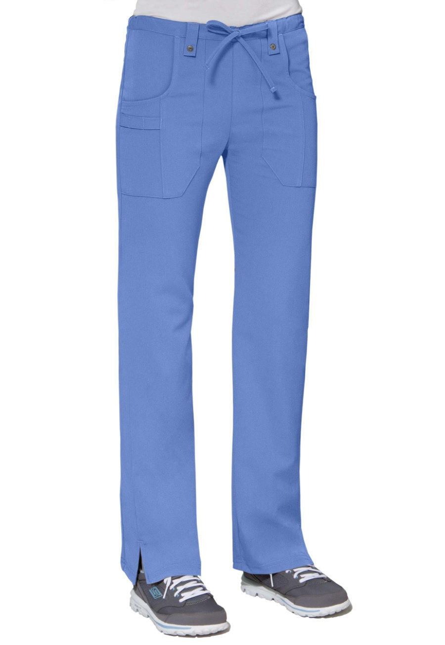 Dickies Xtreme Stretch Mid Rise Slim Drawstring Scrub Pants Blue