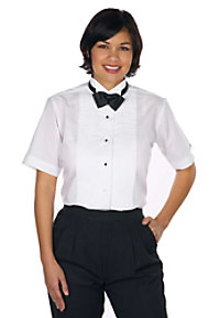 Henry Segal Ladies Short Sleeve Wing Tip Collar Shirt