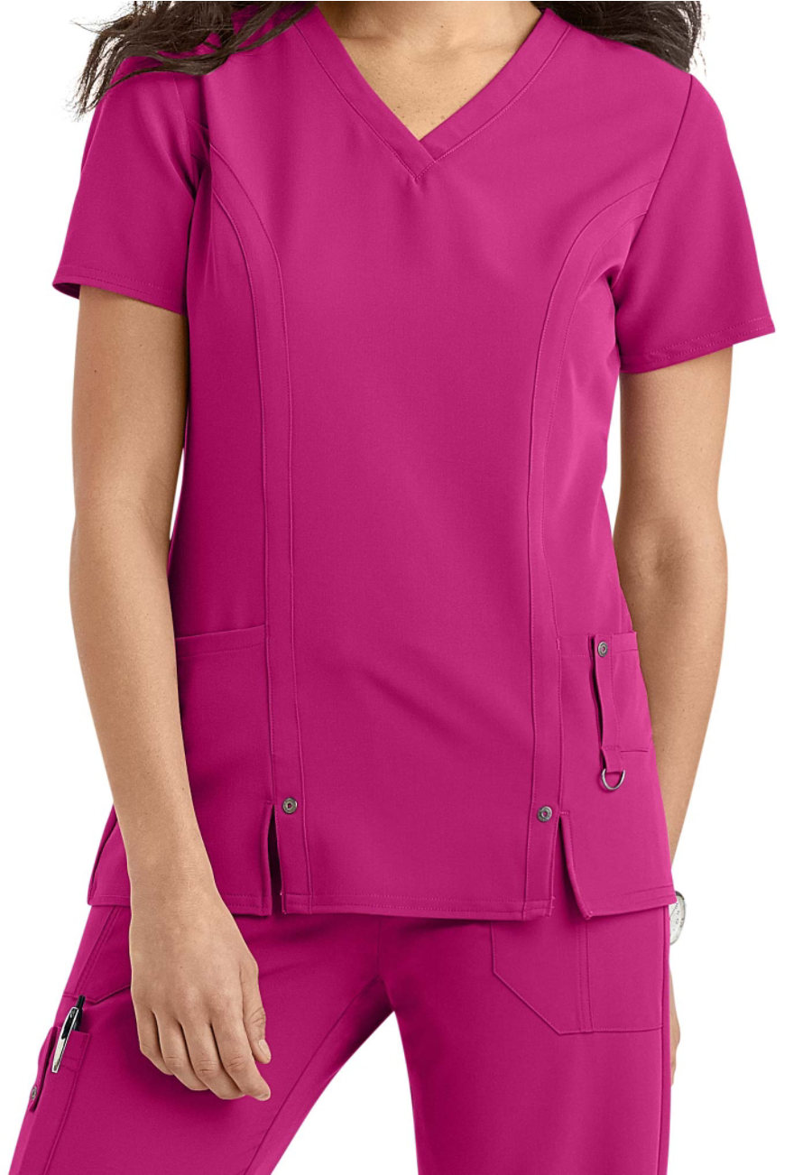 Dickies Xtreme Stretch V-neck Scrub Tops purple