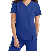 Dickies Xtreme Stretch V-neck Scrub Tops With Princess Seams