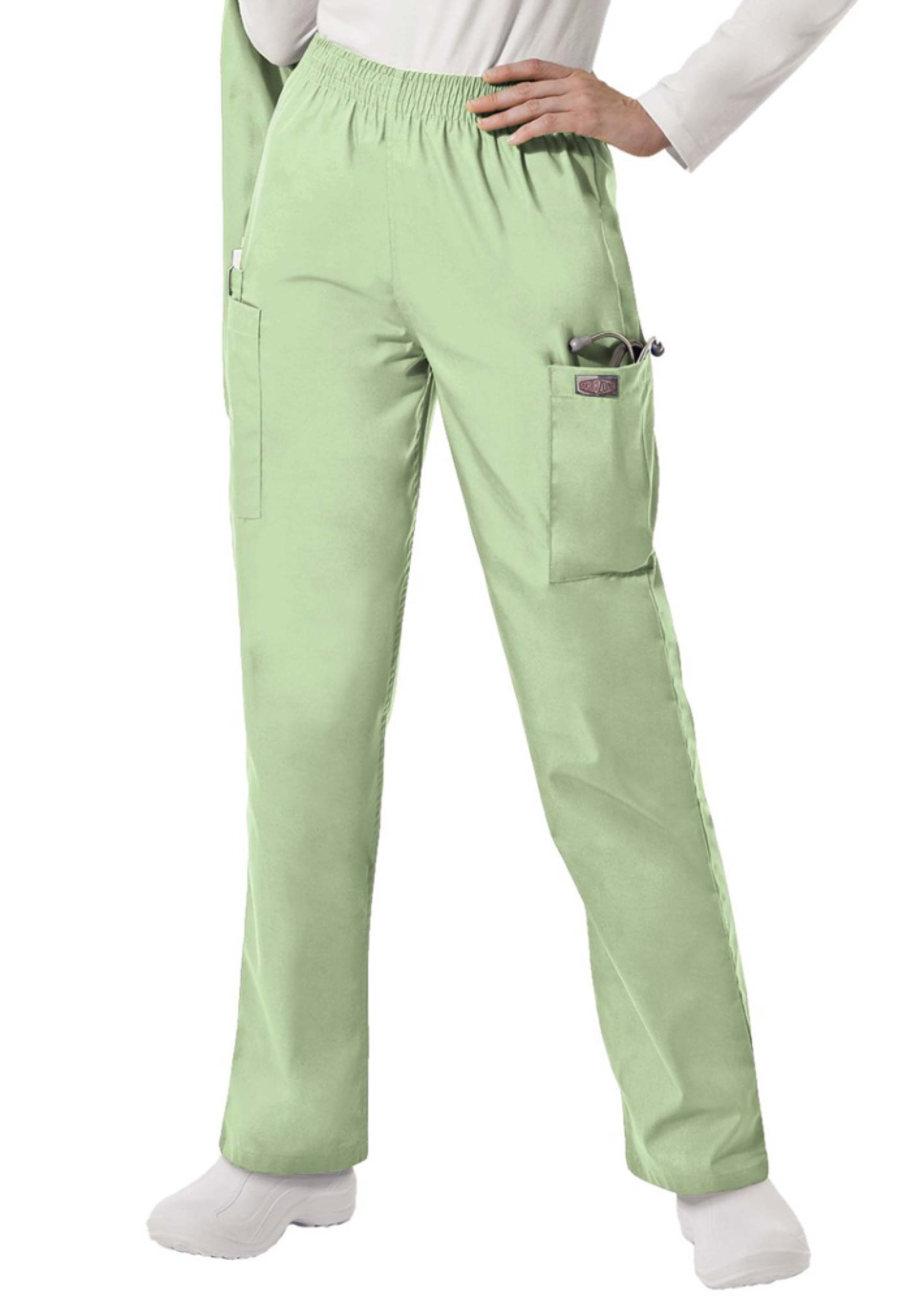 Scrubzone Elastic Waist Cargo Scrub Pants - Aloe - P3X plus size,  plus size fashion plus size appare