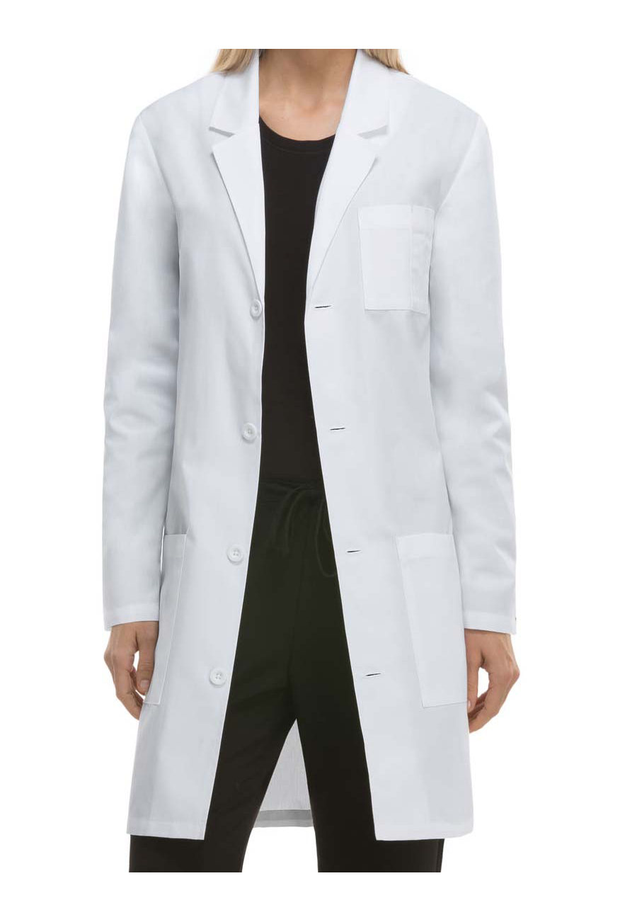 Dickies Unisex 37 Inch Notched Lapel Lab Coats with Certainty Plus