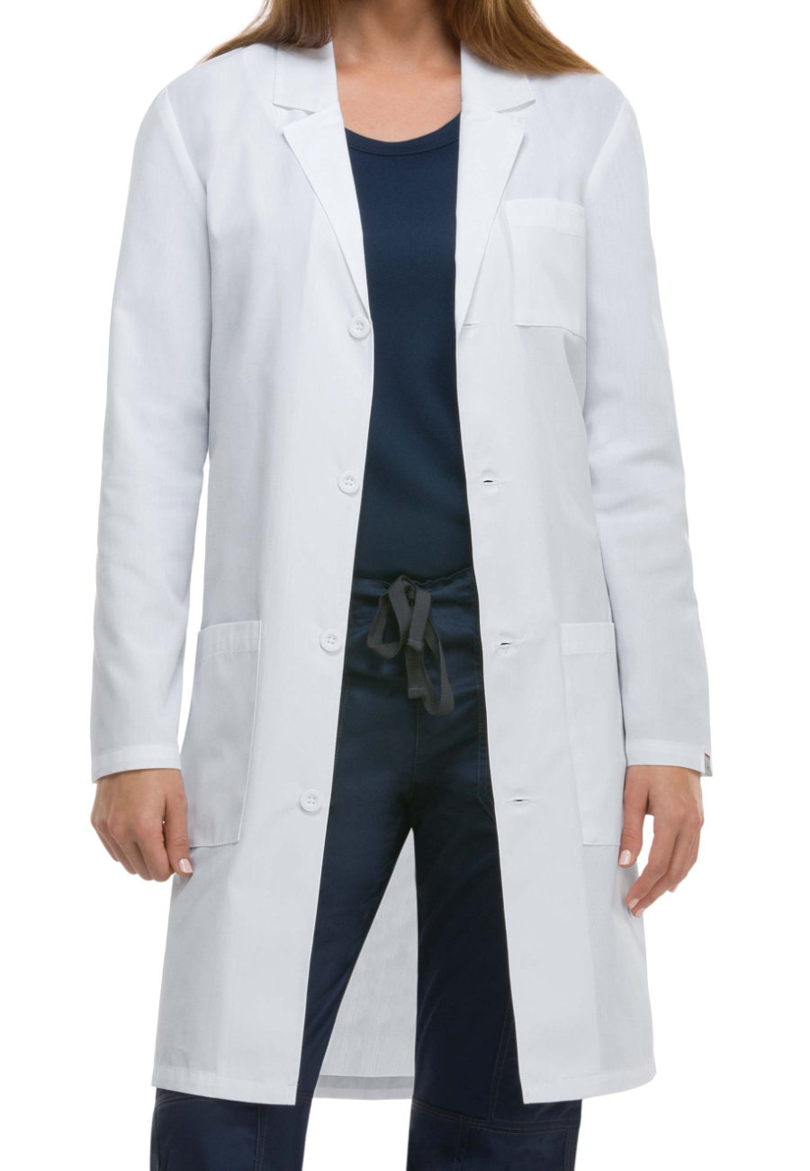 Dickies Unisex 40 Inch Notched Lapel Lab Coats