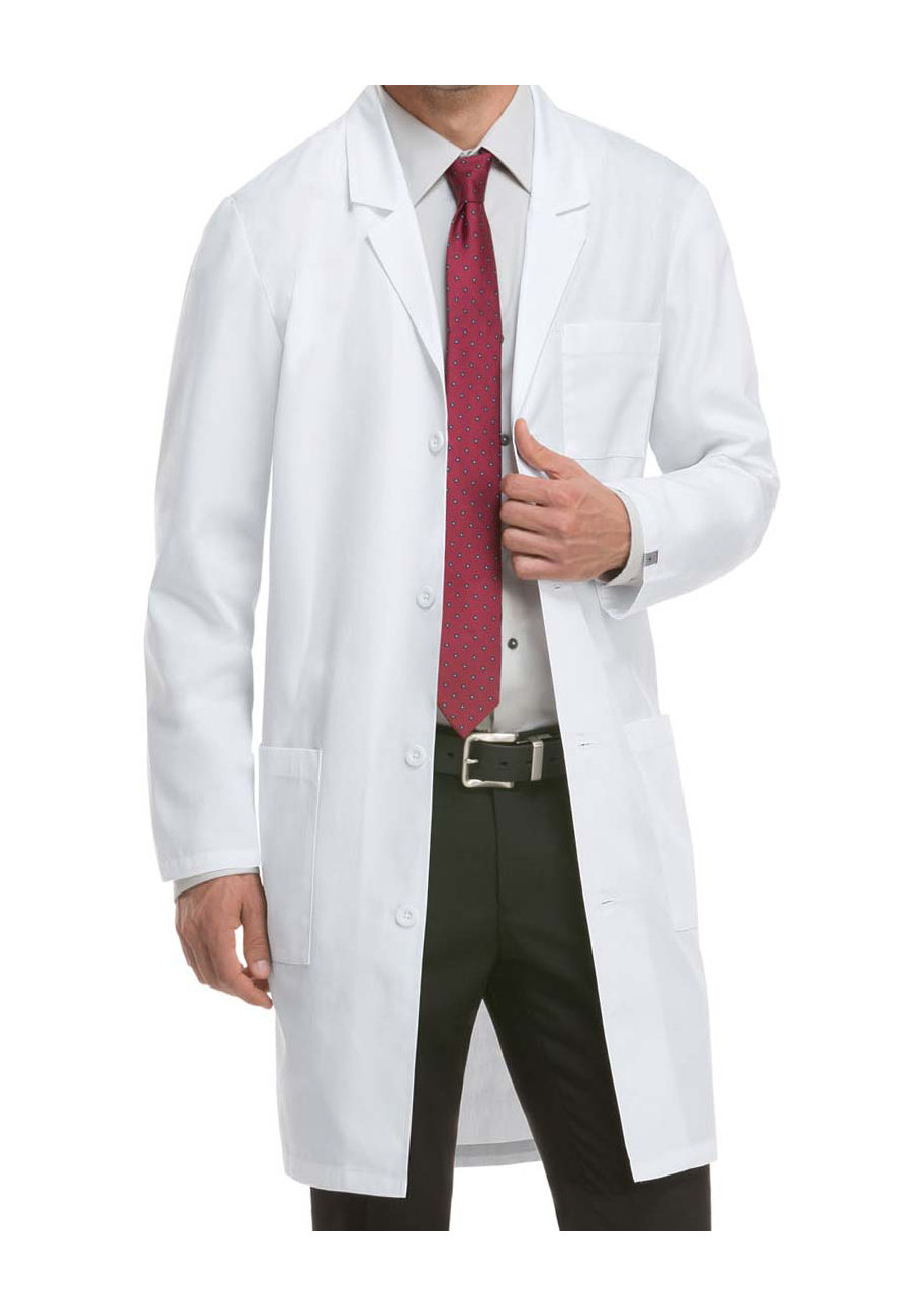 Dickies Unisex 40 Inch Notched Lapel Lab Coats With Certainty Plus - White - 2X plus size,  plus size fashion plus size appare
