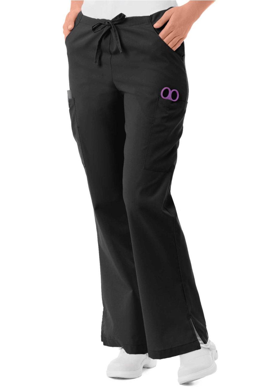 Landau Essentials Flare Leg Cargo Scrub Pants