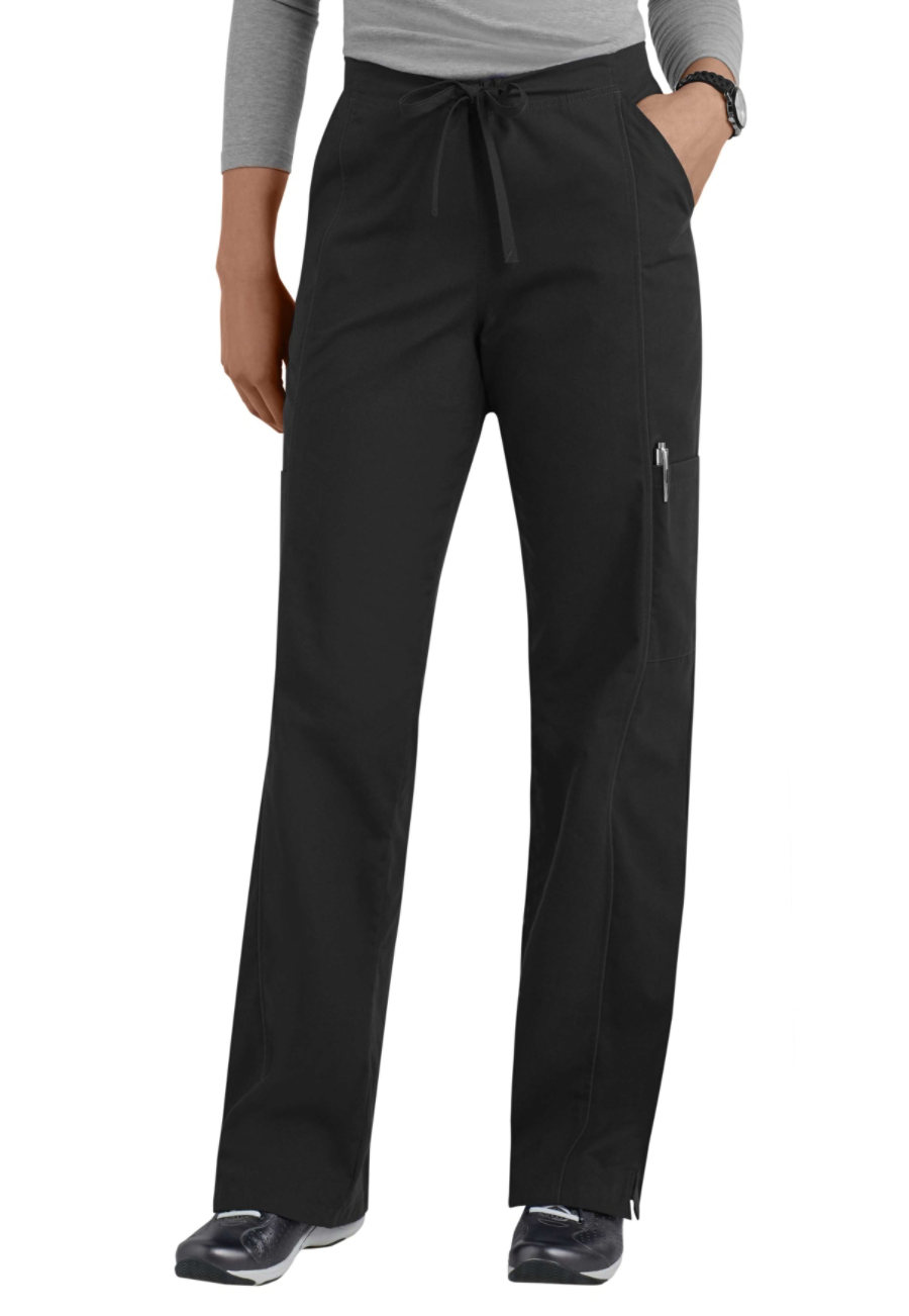 Landau Essentials Elastic Back Cargo Scrub Pants