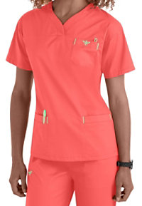 Med Couture Sport Crossover V-neck Scrub Tops