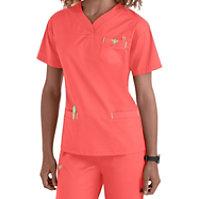 Med Couture Sport Crossover V-neck Tops