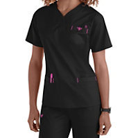 Med Couture Sport Crossover V-neck Tops