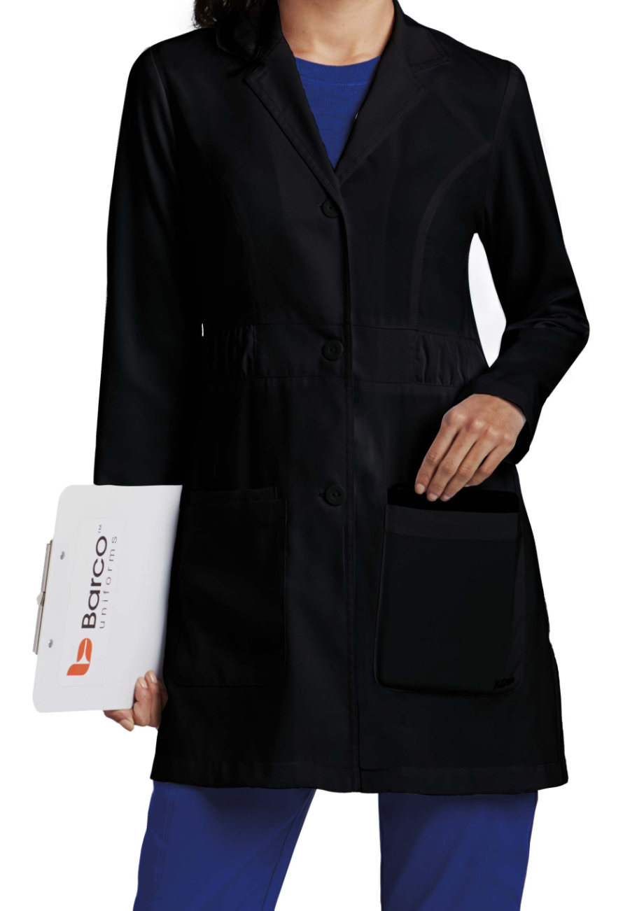 Image of Barco KD 110 Kenzie 32 Long Lab Coat - Black - S