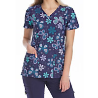 Med Couture Activate Cool Skies V-neck Print Tops