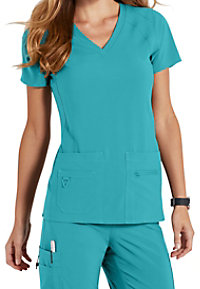 Med Couture Activate Refined V-neck Scrub Tops