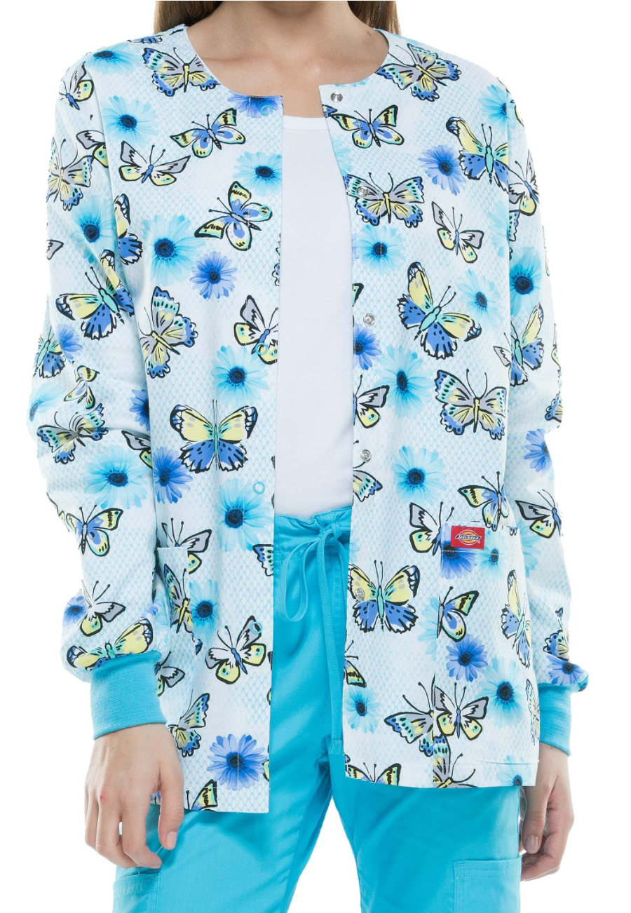 Dickies EDS Catching Butterflies Print Scrub Jackets - Catching Butterflies