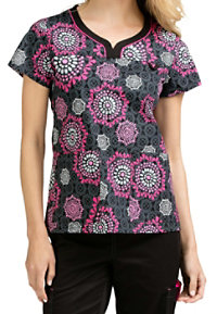 Med Couture MC2 Lexi Berry And Bright Print Scrub Tops