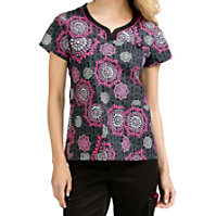 Med Couture MC2 Lexi Berry And Bright Print Tops