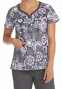 Med Couture MC2 Cosmic Candy Print Scrub Tops
