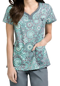 Med Couture MC2 Lexi Floral Spectacle Print Scrub Tops