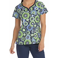 Med Couture MC2 Overlayed Impressions Print Tops