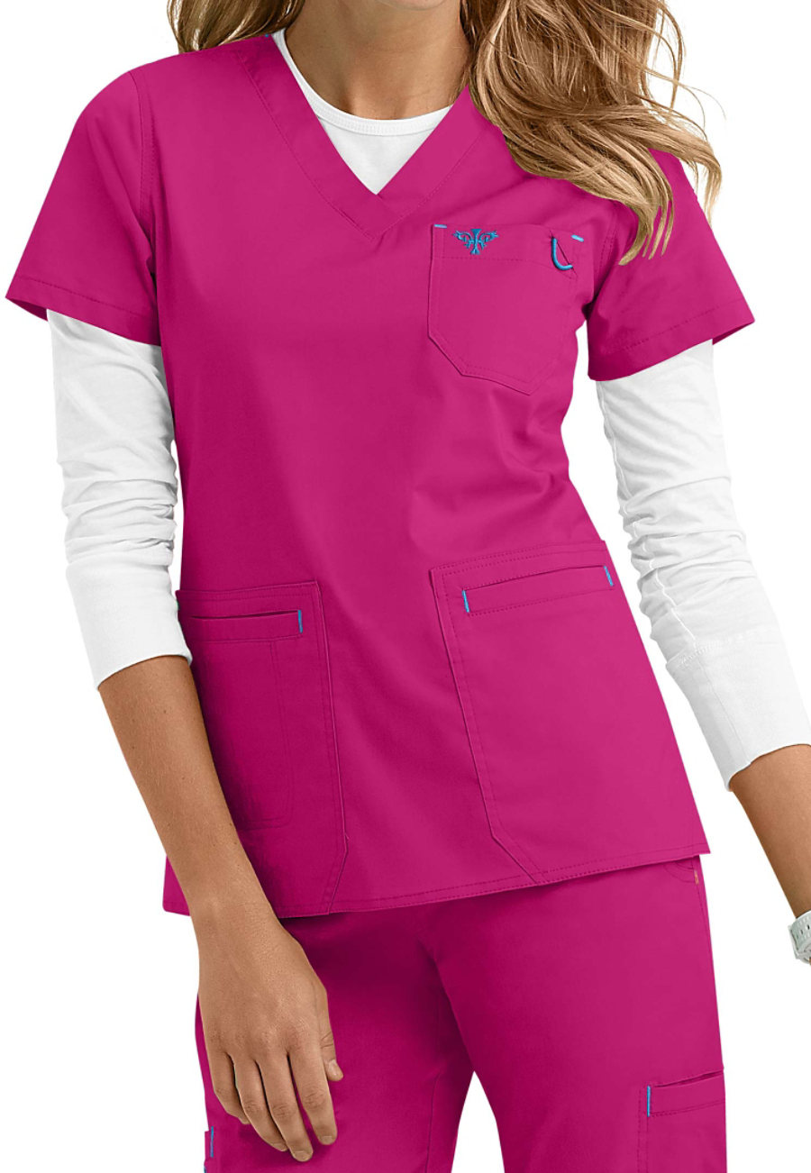 Med Couture Heidi Modern Fit V-neck Scrub Tops