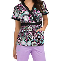 Med Couture Milan Free Spirited Crossover Print Tops