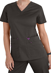 Med Couture Flex-it Knit Insert Scrub Tops