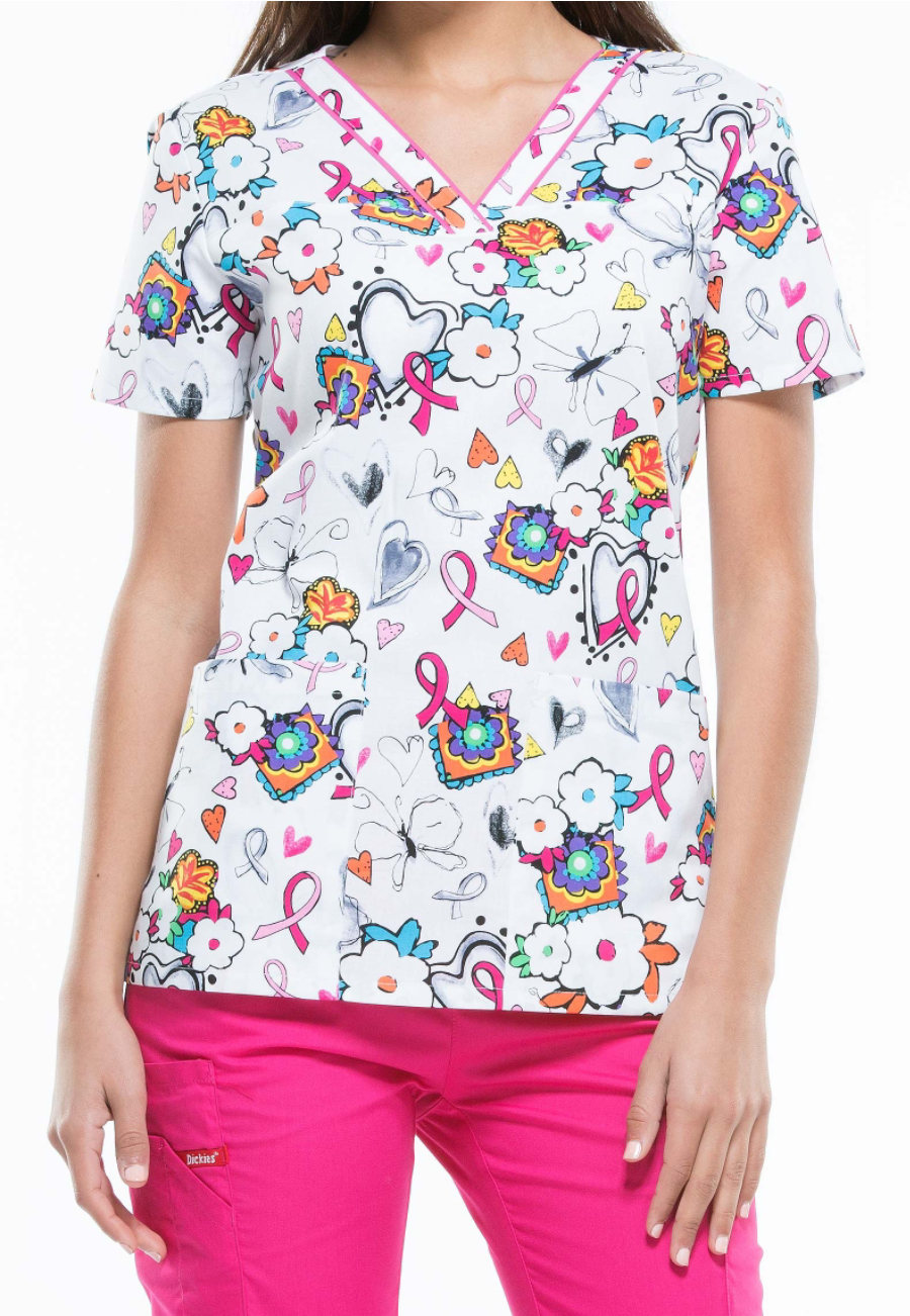 Dickies EDS Care Is In The Air Print Scrub Tops - Care Is In The Air