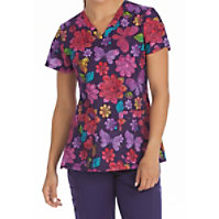 Med Couture MC2 Sweet Nature V-neck Print Tops